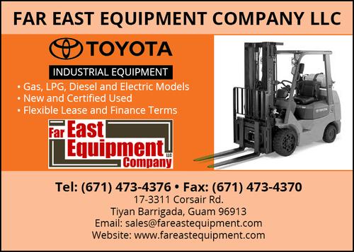 Contact Far East Equipment Company LLC, Forklift Trucks in Guam