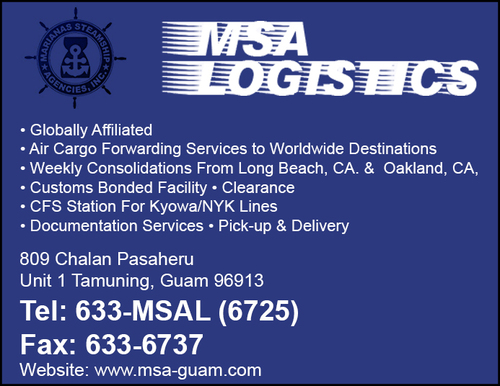Contact MSA Logistics, Freight Forwarding in Tauning, Guam